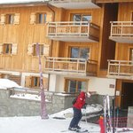Our apartment on ground floor with ski-in just outside!