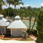                    View of the Tennis Courts from our room