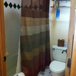 Bathroom area in room #722.