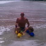                    Journey and Jaxon with daddy at the beach