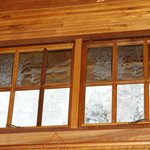 Etched Windows in the bar area