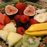 mixed fresh fruit for breakfast :)
