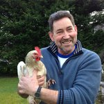 owner George with a friendly chicken!