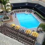                    6th floor balcony overlooking pool and spa