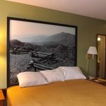 Local photographs in the newly renovated rooms