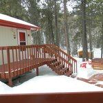 Our cabin and the hot tub