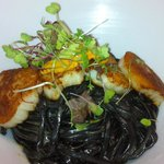                    Black linguini sea scallop