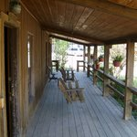                    Porch of cabin