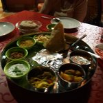 the most delicious homemade Thali in India