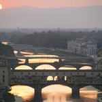 Ponte Vecchio as seen from Piazzale Michaelangelo at sunset