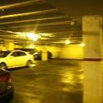                   parking deck to hotel