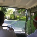                    buggy to our room