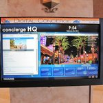 Touch screen info in lobby