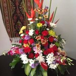                   flowers organised by hotel staff &amp; my Husband for Valentines Day