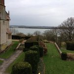                    view of the gardens and Rutland Water from room 510