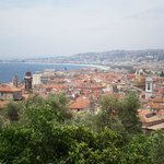 View of Vieux Nice from the colline (parc)