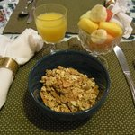                    the breakfast