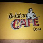 Doha Intercontinental - Belgian Cafe sign