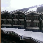 View from room (to L'Avet Piste, across the Piolets)