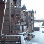                    front of lodge from balcony