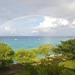 A morning rainbow viewed from our balcony