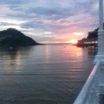 Sunset on the bay in Donostia