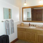                    Vanity and large mirror in Basket suite (view in mirror is door to bathroom)
