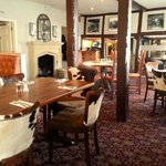  Dining room with cow hide chairs