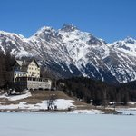                    St. Moritz - down  by the lake