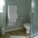  Luxurious walking shower with heated towel rail