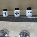  The bathroom toiletries
