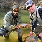 Rainbow trout caught with our guide Will.