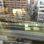 Train passing outside our room below.
