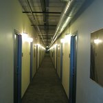 Hallway - hotel not jail  (See the screens over the lights?)