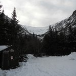                    Tuckerman&#39;s Ravine is a 2.4 mile (steep uphill) hike from the lodge
