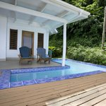 Private swimming pool at Bayside Villa