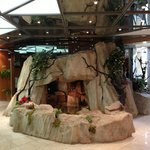 reception indoor waterfall
