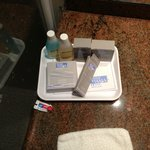 toiletries (and tiny colgate)