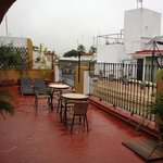                    terraza del hotel.