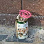 Mosquito coil outside our shack - not provided by Jep's.