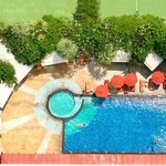                   pool area @ Ascott hotel