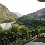 Fabulous Shotover River view from our balcony