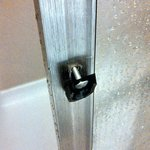                    Broken door handle in bathroom