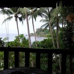 View from our bungalow towards the ocean.