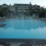                    Mist over the pool on a winter morning.