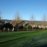                    Cottages with the Santa Cruz mountains in the background
