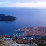 The view on city of Dubrovnik from the mount Srdj