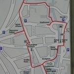                   Town walking map