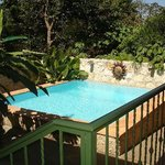  the pool from the veranda