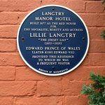                    Lillie Langtry Plaque